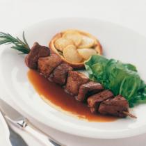 brochette de magret et pépites de foie gras recette