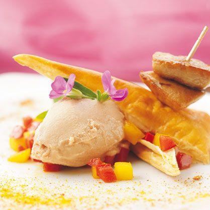 Feuilleté exotique glacé au foie gras recette