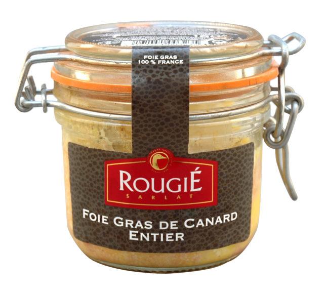 Foie gras entier de canard rougié bocal 180g