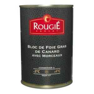 Bloc foie gras de canard 30% morceaux 400g