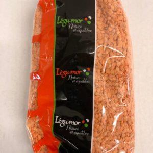 lentille corail legumor sachet 1kg