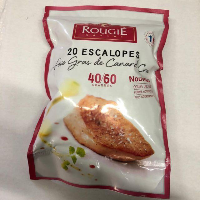 Escalopes de foie gras de canard cru surgelé Rougié calibre 40-60