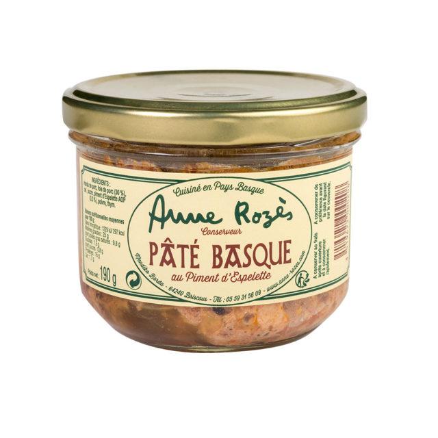 pâté basque au piment d'epelette anne rozés verrine 190g