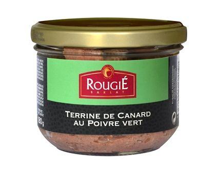 Terrine de Canard au Poivre Vert Rougié 180g