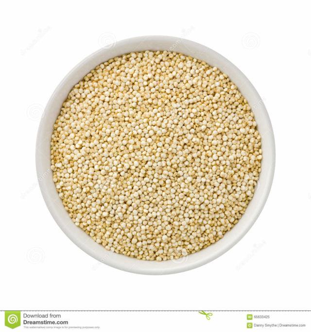 quinoa blanc dans un bol