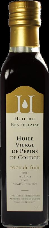 Huile vierge de pépin de courge 50cL Huilerie Beaujolaise