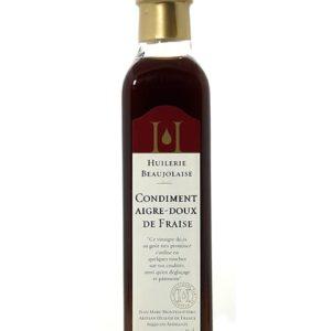 condiment aigre-doux de fraise huilerie beaujolaise